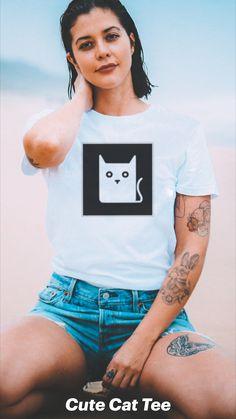 Diy Shirt, Graphic Tee Shirts, Cat Breeds, Cat Memes, Tees, Cute, Shopping, Design, Women