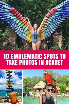 10 emblematic spots to take photos in Xcaret. https://www.playa-vacation.com/blogs/news