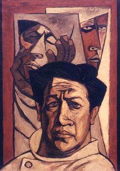 Abstract: Self-Portrait-Oswaldo Guayasamín Figure Painting, Painting & Drawing, Arte Latina, Abstract Face Art, Art Photography Portrait, A Level Art, Beautiful Paintings, Figurative Art, American Art