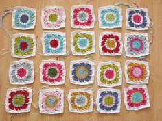 Squares by Kasja of Syko; free pattern from Drops can be found here: http://www.garnstudio.com/lang/en/pattern.php?id=4478〈=en