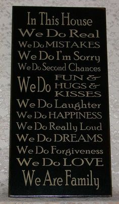 House Rules - Primitive Country Painted Wall Sign, Family Rules Sign, Wall Decor