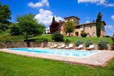 This #farmhouse in the #Chianti‬ area, now completely restored, dates back to 1200. It includes 26 hectares of land planted with #vines (including cabernet, merlot, alicante and San giovese), a swimming pool, a large garden irrigated with water from the nearby river and a photovoltaic system which guarantees energy independence.  More information about the property at http://sil.it/en/1001/find-Your-Property.htm?codice=500.