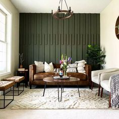 Striped Accent Walls, Green Accent Walls, Accent Wall Colors, Accent Walls In Living Room, Accent Wall Bedroom, Living Rooms, Bedrooms With Accent Walls, Apartment Living, Accent Wall Designs