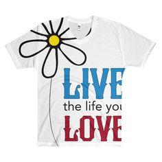 "Men's ""Live the Life You Love the Life You Live"" V-Neck T-Shirt"