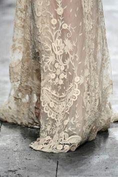 beautiful detailing on a wedding dress
