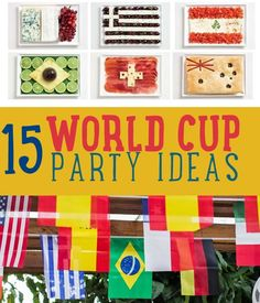 15 Best World Cup Party Ideas | Some crafty ideas for your next party. #DiyReady www.diyready.com