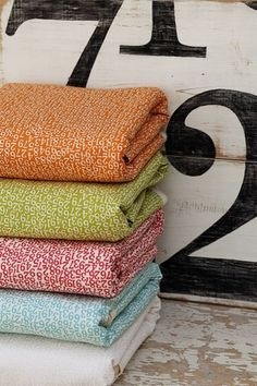 What is it about fabric with numbers or words on it?