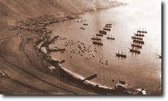 Vista parcial de Pisagua, puerto de embarque del salitre. Bolivia, San Martin, Armada, Plaza, South America, Bahia, World, War Of The Pacific, Great Britain