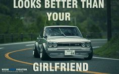 """Looks BETTER than your GF"" #Skyline #GTR #nissan"