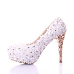 Encaje negro zapatos de boda ultra plataforma tacones altos zapatos de vestir formales de color champán rhinestone de la boca baja zapatos de novia en Bombas de las mujeres de Calzado en AliExpress.com | Alibaba Group