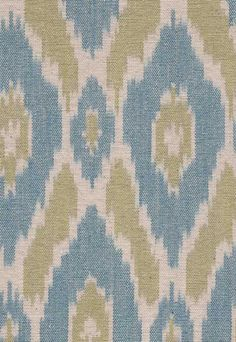 Ikat meets perfection in blue and green fabric