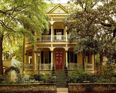 Mansion in Savannah, Georgia (note the live stairs)