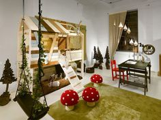 great meadow themed play room idea