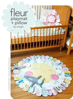 yippee! the fleur playmat pattern is finally complete and available in my shop ! with mae cutting her second tooth and my husband away fis...