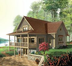 House Plan 64808 | Country   Craftsman    Plan with 2393 Sq. Ft., 3 Bedrooms, 4 Bathrooms