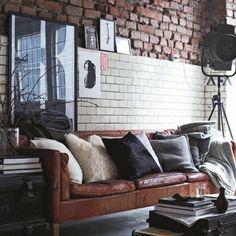 styling brown leather sofa http://instagram.com/p/pesmbrnVBd/