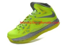 Basketball Shoes 10 Lebron James X Volt Wolf Grey Pure Platinum Electric Green  541100 700 bd980bba8bf6