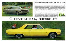 1964 Chevelle by Chevrolet Sales Brochure Malibu Super Sport 300 Station Wagon Chevrolet Chevelle, 1964 Chevelle, Chevrolet Malibu, Buy Classic Cars, Car Advertising, Super Sport, American Muscle Cars, Chevy Trucks, Vintage Cars