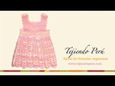 Vestido para bebita de 0 a 3 meses tejido en crochet (Parte 3: acabados)