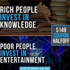 If you spend all of your money and time in your 20s on things that make you happy like concerts nights at bars meals out clubs etc then you will be almost guaranteed not to be living a life you're happy with in your 30s. On the flipside if you make some sacrifices now invest in self-education and give yourself an edge over the 99% of your peers who are out fucking around right now you'll be in a much better position to achieve success earlier in life. We want to help you get there - click…