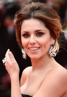 Statement EarringsareTrendingatCannes 2014. Cheryl Cole in round statement earrings at the Red Carpet during Cannes Film Festival 2014 #Cannes2014 #trendy #jewelry