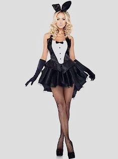 Bunny Halloween Costume, Playboy Bunny Costume, Halloween Outfits, Rabbit Halloween, Adult Halloween, Halloween Cosplay, Halloween Party, Maid Halloween, Halloween Leggings