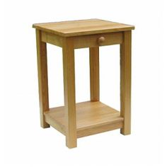 Lacar Solid Oak One Drawer Lamp Table  www.easyfurn.co.uk Solid Oak Furniture, Oak Panels, Lamp Table, Drawer Fronts, Simple Lines, Drawers, Projects, Home Decor, Log Projects