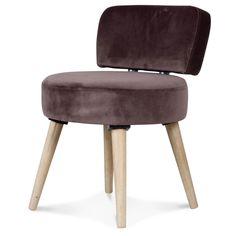 Fauteuil ou chaise en velours couleur châtaigne Hauteur 64 cm chez Kotecaz. Decoration, Stool, Studio, Furniture, Home Decor, Velvet Armchair, Retro Chic, Scandinavian, Chair