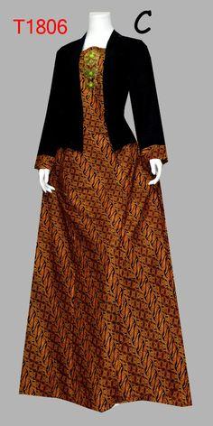 48 Ideas Dress Hijab Motif For 2019 Batik Long Dress, Model Dress Batik, Muslim Fashion, Hijab Fashion, Women's Fashion, Batik Muslim, Batik Kebaya, Batik Fashion, Muslim Dress