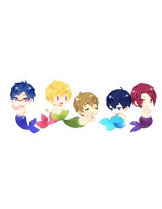 Free! - Iwatobi Swim Club, haruka nanase, rin matsuoka, haru nanase, rin, haru, free!, iwatobi, makoto tachibana, nagisa hazuki, makoto, nagisa, tachibana, hazuki, rei ryugazaki, rei, ryugazaki, matsuoka, merman