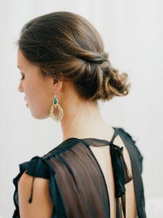 bridal style Romantic Boudoir #updo #bridalhair
