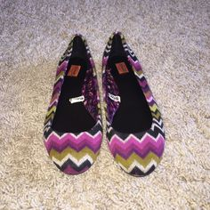 LIKE NEW MISSONI FOR TARGET BALLET FLATS SZ 8 Like new only worn once SZ 8 Shoes Flats & Loafers