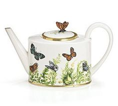 Amazon.com: Wings Of Grace Porcelain Butterfly Teapot With Gold Trim For Fine Dining,Home Decor And Collectors: Kitchen & Dining