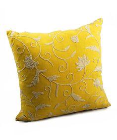 Beautiful yellow pillow