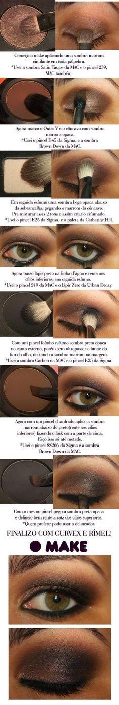 e431a21d5698e Brown smokey eye by luella Adoro Maquiagem, Como Fazer Maquiagem, Maquiagem  Artística, Maquiagem