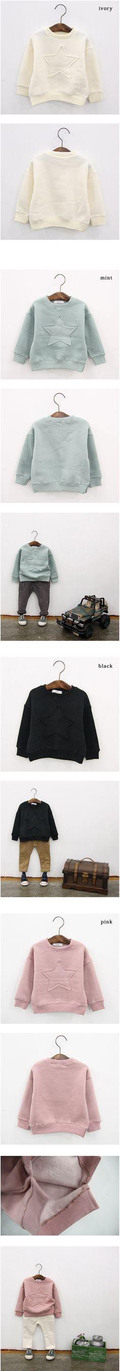 8662042f91ffc  楽天市場 裏起毛 スター トレーナー 韓国子供服 冬 裏起毛 tシャツ