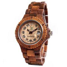 Solid Koa Watch - Sport Collection - 11084 $489.00    http://www.martinandmacarthur.com/koa/wood-watches/koa-wood-watches/solid-koa-watch