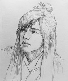 i love you drawings Girl Drawing Sketches, Cool Sketches, Kpop Drawings, Pencil Art Drawings, Taehyung Fanart, Korean Art, Bts Chibi, Amazing Drawings, Anime Kawaii