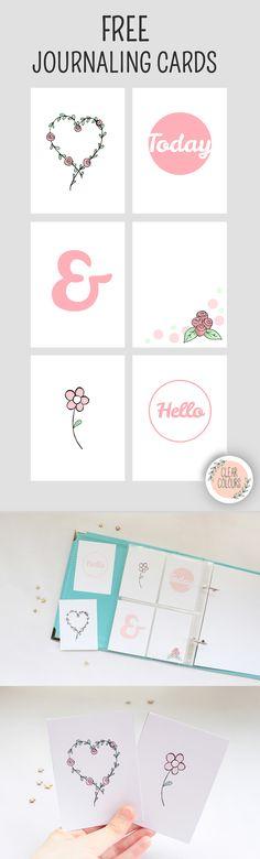 Clear Colours: Free Journaling Cards - Roses