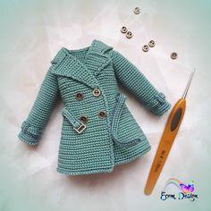 Barbie Knitting Patterns, Crochet Stitches Patterns, Doll Clothes Patterns, Crochet Designs, Crochet Doll Dress, Crochet Barbie Clothes, Knitted Dolls, Crochet Doll Tutorial, Crochet Doll Pattern