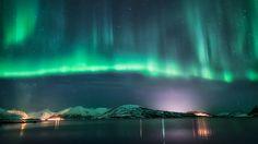 Aurora, November 10, 2013 over Skjervøy, Troms, Norway.