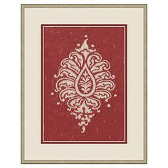I pinned this Paisley Framed Wall Art from the sfa Design event at Joss and Main!