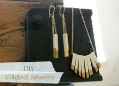 Gilded Polymer Clay Jewelry