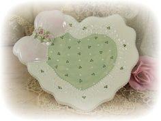 Custom and One of a Kind Handmade Ceramic Rossette heart plate