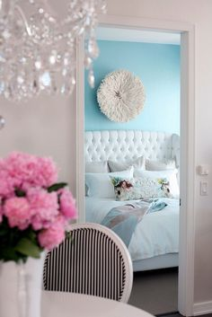 That blue bedroom looks like mine :) Similar bed and same color. LOVE