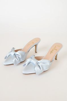 Bow Shoes, Me Too Shoes, Shoes Heels, Pink Heels, Pointed Toe Heels, Stiletto Heels, Mahal Kita, Aesthetic Shoes, Cute Heels