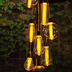 LED Parasol Cluster Lights #kaleidoscope #garden