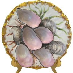 Stunning Haviland Limoges Turkey Oyster Plate Antique Plates, Antique China, Oyster Bed, Oysters Rockefeller, Glass Ceramic, China Patterns, French Decor, Plates On Wall, Vintage Antiques