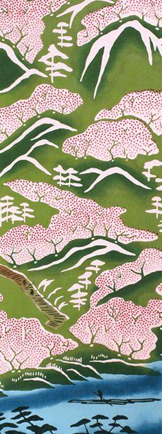 Japanese washcloth, Tenugui 遠山桜