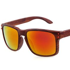 fceba5f94c Stylish Wooden-Frame Sports Sunglasses - Assorted Colors